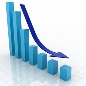 график с падением роста экономики