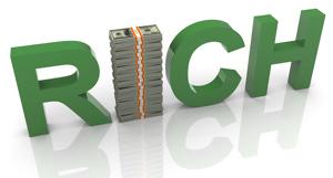 букваы rich зеленого цвета