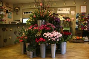 центральное место цветочного магазина