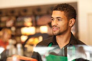Официант знаменитой сети кофеен