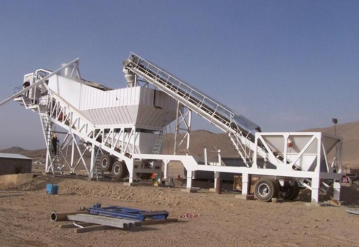 Мини бетонный завод на колесах
