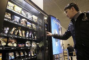 Покупка кофе в автомате
