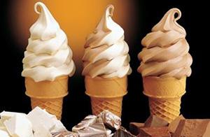 Ванильное и шоколадное мороженое