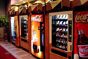 Продажа колы через автоматы