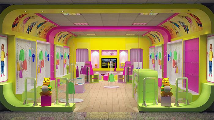 Оформление магазина одежды для детей