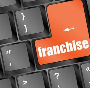 кнопка с надписью franchise на клавиатуре
