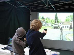виртуальный тир на большом проекторе