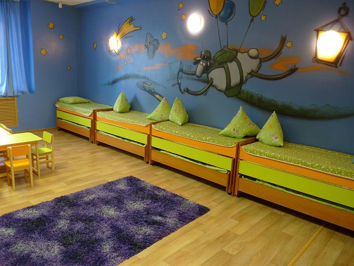 Спальня в частном детсаде