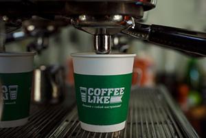 Фирменный стакан Кофе Лайк